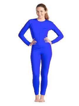 disfraz de maillot o mono azul mujer