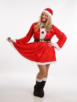 disfraz de mama noel con vestido mujer talla m/l.es perfecto para repartir ilusión en la Nochebuena y Fiestas típicas de la Navidad.Este disfraz es ideal para tus fiestas temáticas de disfraces de navidad mujer adulto.