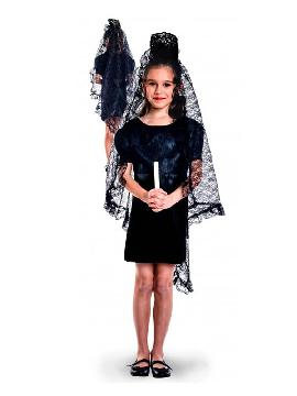 disfraz de mantilla manola niña