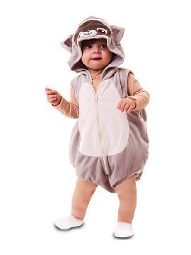 disfraz de mapache para bebe
