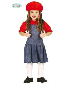 disfraz de maquinista mario bross niña