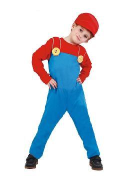 disfraz de maquinista mario bross niño