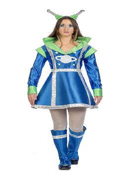 disfraz de marciana galactica mujer