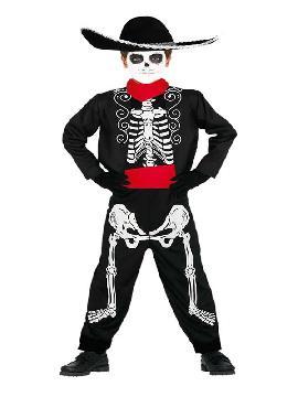 disfraz de mariachi esqueleto para niño