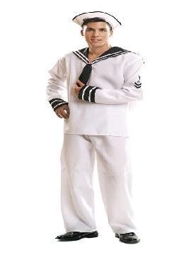 disfraz de marinero blanco hombre