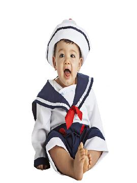 disfraz de marinero para bebe. Ideal para tus fiestas tematicas o para buscar a tu marinerita en tus fiestas de fin de curso o guarderias. Este disfraz es ideal para tus fiestas temáticas de disfraces de uniforme de trabajo,disfraces de marineros y del mar