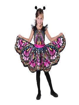 disfraz de mariposa colorida niña