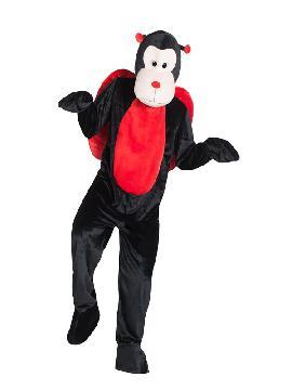 disfraz de mariquita mascota gigante para hombre