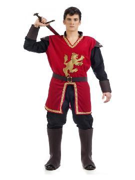 disfraz de marques medieval rojo hombre
