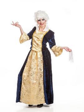 Disfraz marquesa mujer. Te convertirás en un auténtica dama medieval de la Orden de Malta en tus Fiestas Temáticas, Ferias y Mercados Medievales o en Carnaval.