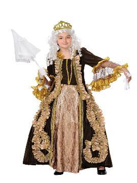 Disfraz de marquesa para niña. Te convertirá en un auténtica dama  medieval de la Orden de malta en tus fiestas temáticas. Este disfraz es ideal para tus fiestas temáticas de disfraces época y medievales para la edad media de infantiles