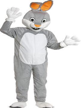 Disfraz de mascota animación conejo adulto. Acompaña a los demás animalitos del bosque y seréis los más encantadores de cualquier evento comercial, despedidas, fiestas temáticas Carnaval.