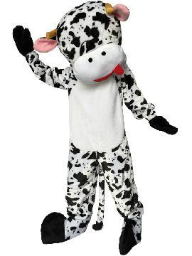 Disfraz de mascota vaca lechera adulto. Protagonizan espectáculos en la granja o actuaciones cómicas. Este traje de mascota de animación, ideal para Eventos de Animación Infantil, eventos comerciales o Fiestas Temáticas. fabricacion nacional