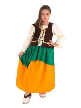 disfraz de masera medieval para niña