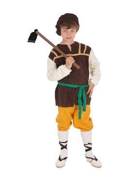 disfraz de masero medieval para niño