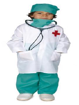 Disfraz de medico cirujano niño .Es perfecto para que te sientas como un auténtico doctor,con este disfraz de doctor niño.dispuesto a curar a todos tus amiguitos en fiestas escolares.Este disfraz es ideal para tus fiestas temáticas de disfraces de médicos niños infantiles
