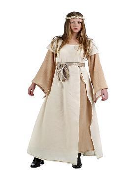 disfraz de medieval eloisa mujer. Te convertirás en una auténtica mujer de la época medieval cuando lleves este vestido de campesina medieval para mujer, representaciones teatrales y mercados medievales. Este disfraz es ideal para tus fiestas temáticas de disfraces epoca y medievales para la edad media adultos. Fabricación nacional.