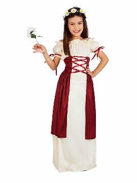 disfraz de medieval festival niña
