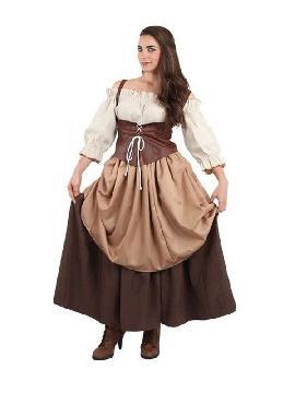 disfraz de medieval hortelana para mujer