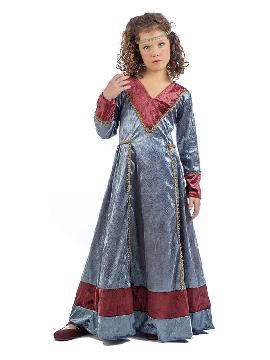 disfraz de medieval jimena niña. Serás la dama con más color de todo el castillo. Los ojos de reyes y príncipes se posaran en tu belleza y elegancia en las fiestas medievales infantiles.