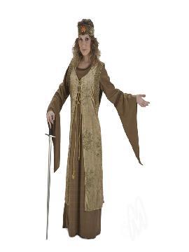 disfraz de dama medieval lujo mujer