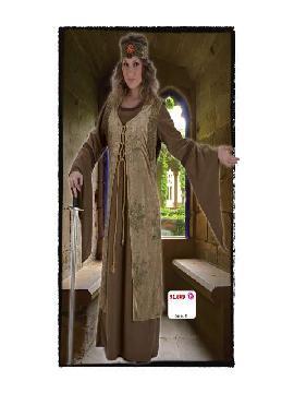 disfraz de dama medieval lujo mujer adulto te transformará en una auténtica protagonista de la época Medieval con este disfraz de medieval lujo.Este disfraz es ideal para tus fiestas temáticas de disfraces epoca y medievales para la edad media de mujer adultos.