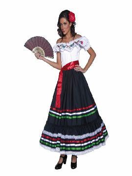 disfraz de mejicana deluxe mujer