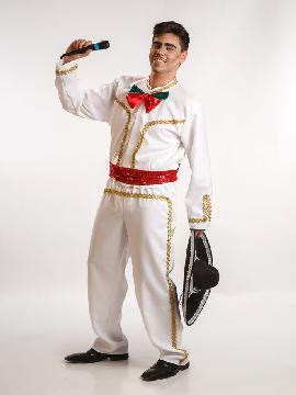 disfraz de mejicano mariachi blanco adulto