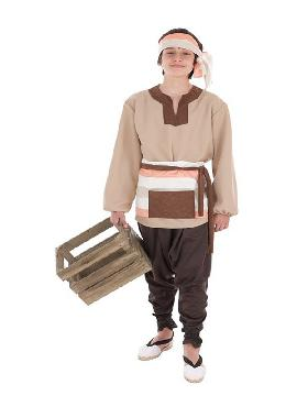 disfraz de mercader medieval para niño