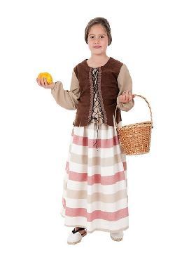 disfraz de mercadera medieval para niña