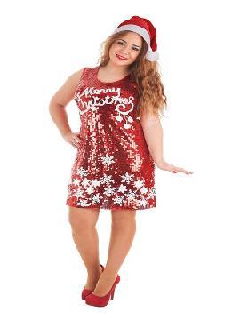 disfraz de merry christmas de lentejuelas mujer