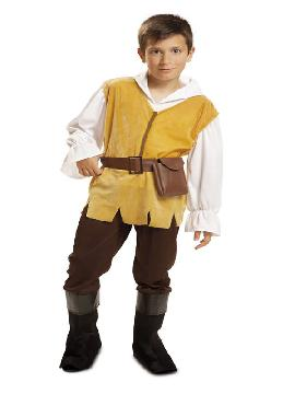 disfraz de mesonero medieval para niño