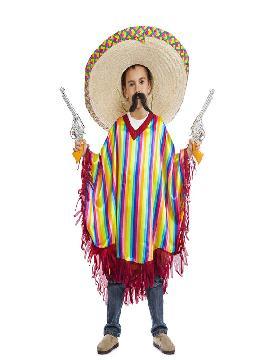 disfraz de mejicano para niño. Entona las típicas rancheritas como un mariachi o simplemente emula a un lozano muchacho mexicano.Este disfraz es ideal para tus fiestas temáticas de disfraces del mundo,paises y regionales para infantil