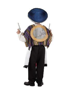 disfraz de mexicano a hombros de trump hombre