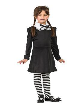 disfraz de miercoles con medias niña