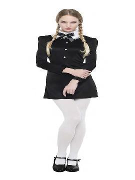 disfraz de miercoles gotica mujer