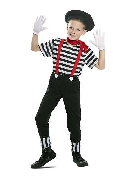disfraz de mimo divertido niño