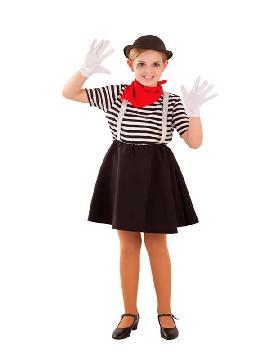 disfraz de mimo para niña infantil