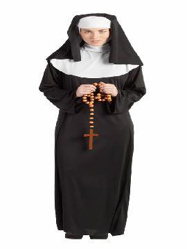 disfraz de monja clasica mujer