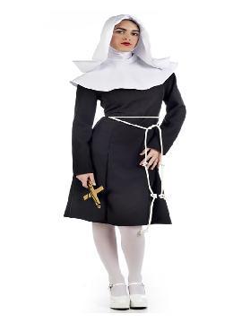 disfraz de monja deluxe mujer