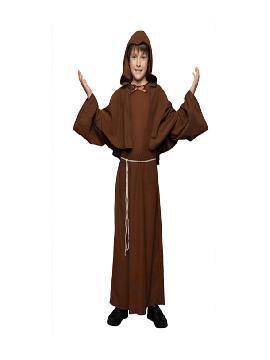 disfraz de monje barato niño infantil. Te convertirás en un miembro más de la iglesia. Con este traje de fraile no pasarás desapercibido en fiestas tematicas. Este disfraz es ideal para tus fiestas temáticas de disfraces religiosos infantil.