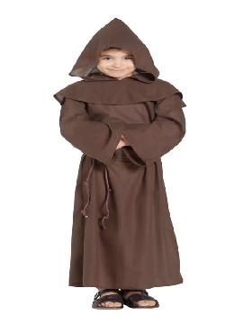disfraz de monje marron niño