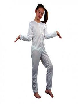 disfraz mono blanco de punto infantil. Al ser un mono entero podrás utilizarla en multitud de ocasiones, para tus disfraces en Fiestas Temáticas y fin de curso.