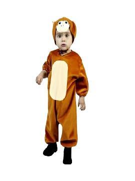 disfraz de mono marron barato infantil. Es ideal para convertir a los pequeños de la familia en este simpático animalito de la selva y llevártelos a Fiestas Temáticas o a disfrutar del Carnaval.Este disfraz es ideal para tus fiestas temáticas de disfraces de animales infantiles.