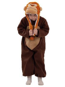 disfraz de mono marrón bebe. Podrás transformar al más pequeño de la familia en el compañero animal inseparable de Marco. Regresa a tu infancia y disfruta en fiestas temáticas y de guardería. Este disfraz es ideal para tus fiestas temáticas de disfraces de animales para infantiles