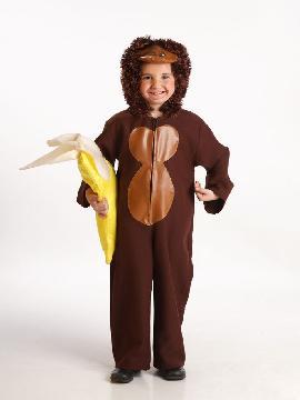 Disfraz de mono marrón infantil. Es ideal para convertir a los pequeños de la familia en este simpático animalito de la selva y llevártelos a Fiestas Temáticas o a disfrutar del Carnaval.Este disfraz es ideal para tus fiestas temáticas de disfraces de animales infantiles.