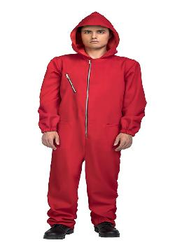 disfraz de mono rojo la casa de papel hombre