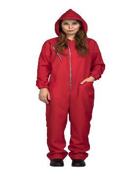 disfraz de mono rojo la casa de papel mujer