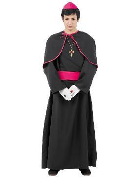 Disfraz de monseñor hombre. Perdonarás a las pecadoras más en Carnaval.Este disfraz es ideal para tus fiestas temáticas de disfraces de religiosos,curas,monjas y obispos para hombre adultos.