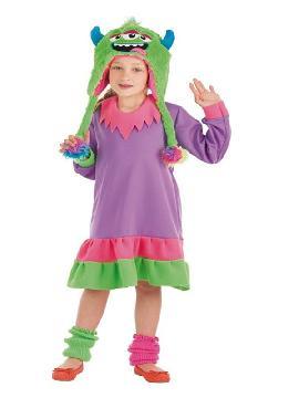 disfraz de monstruita morada para niña